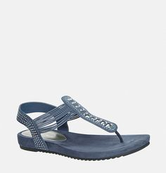 Discover new summer sandals in wide widths like the Brandy Stone Stretch Thong Sandal available online at avenue.com. Avenue Store