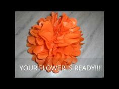 YouTube Simple Paper Flower, Paper Flowers Diy, Diy Party Crafts, Craft Party, Mom, Youtube, Embellishments, Mothers, Youtubers