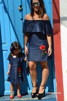 Ciganinha Jeans - Kit mãe e filha