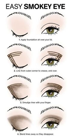 Look better immediately: You should know these makeup tips .- Sofort besser aussehen: Diese Make-up-Tipps solltet ihr kennen! With this trick, smokey eyes are no longer a problem even for beginners! Smokey Eye Makeup Tutorial, Eye Makeup Steps, Eyeliner Tutorial, Easy Eye Makeup, Simple Makeup, Smoky Eye Makeup, Cheap Makeup, Eye Shadow Tutorial, Eye Makeup Tutorials