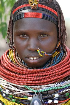 Africa |  Portrait of an Nyangatom woman.  Photo taken in an outlying village near Kangata in the Omo Valley |  © **El-Len** on flickr