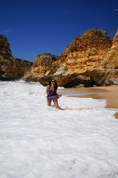 a day at algarve #portugal #beach #praiadarocha