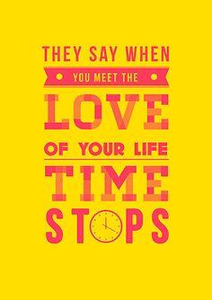 """""""Dicen que cuando encuentras al amor de tu vida, el tiempo se detiene."""" FIG FISH  verdad :)"""