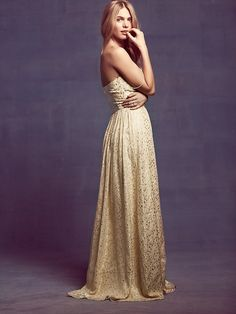Erin Fetherston Monique Lurex Chiffon Gown at Free People Clothing Boutique