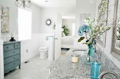 GORGEOUS Bathroom Makeover -that's where I'll put the toilet!!