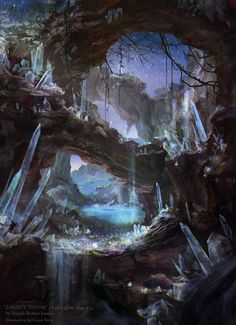 Find images and videos about art, magic and fantasy on We Heart It - the app to get lost in what you love. Fantasy Anime, Fantasy Kunst, Sci Fi Fantasy, Fantasy World, Fantasy Concept Art, Fantasy Artwork, Environment Concept Art, Environment Design, Fantasy Landscape