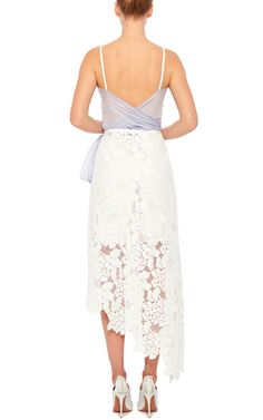 Cotton Silk Voile Flower Wrap Top  by LILA EUGENIE  Now Available on Moda Operandi
