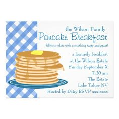 Pancake Breakfast Custom Announcements