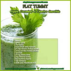 'Flat tummy' apple, cucumber and cilantro smoothie