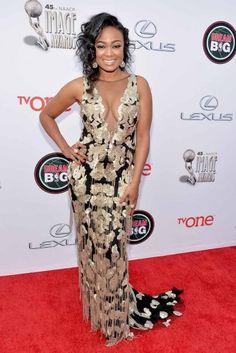 Tatyana Ali attends the 45th NAACP Image Awards presented by TV One at Pasadena Civic Auditorium in Pasadena, California.