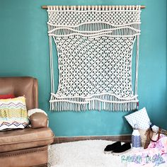 Contemporany Macrame / wallhanging / wall art / Ranran Design by RanranDesign on…