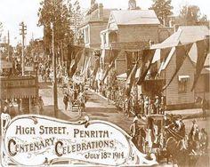 Centenary Celebrations Parade held on High Street., Penrith, NSW  18th July 1914. v@e