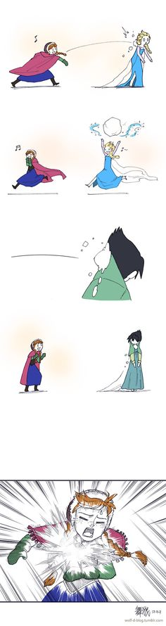 """The original Elsa doesn't like to play with Anna... """"Snowman always of her mind, so I put ice in her brain! We play by my rules if I conjure up a game!"""""""