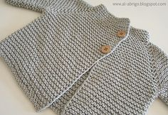 Ravelry: zen cardigan pattern by al-abrigo (sport weight) Cardigan Bebe, Cardigan Pattern, Baby Cardigan, Coat Patterns, Baby Patterns, Knitting Patterns, Baby Hats Knitting, Knitting For Kids, Brei Baby