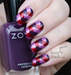 Fishtail braid manicure with Zoya