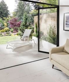 Spaces Laneve™ Indoor White Tile - Same tiles inside and outside for kitchen and garden?