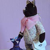 """Интерьерная игрушка """" Елизавета"""" Текстильная игрушка, кот, ручная работа"""