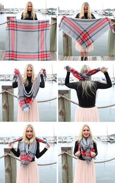Photo | How To Tie A Blanket Scarf In 9 Stunning & Unique Ways — PHOTOS | Bustle