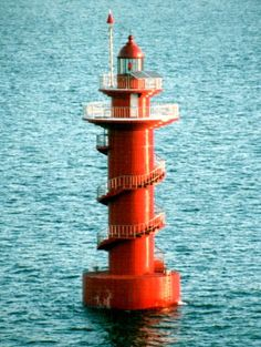 Gwangyang Harbor Lighthouses Located in the entrance to the industrial harbor of Gwangyang Yeosu South Korea Yeosu, Lighthouse Lighting, Lighthouse Pictures, Lighthouse Keeper, Beacon Of Light, Water Tower, Chicago Restaurants, Covered Bridges, South Korea