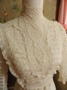 Gorgeous lace on this Edwardian Lawn Dress