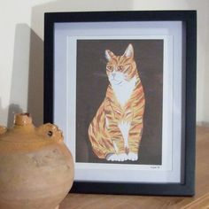 Ginger Cat Illustration Print - £15. Available here; https://www.etsy.com/listing/117945248/ginger-cat-illustration-print