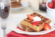 Grain-Free Waffles by Against all Grain.  These are a staple in my house.  I make them 2-3 times a week. YUM!!! and EASY!!!