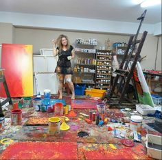 SUSANA RUBIN in her studio. I want to get this messy everyday!