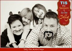 Personalize your Christmas Photo Cards.  Christmas card. Photo card. Funny family photo.