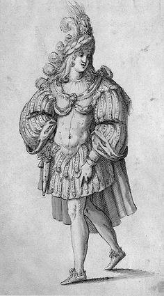 A knight's costume  by Inigo Jones (early 17th century)