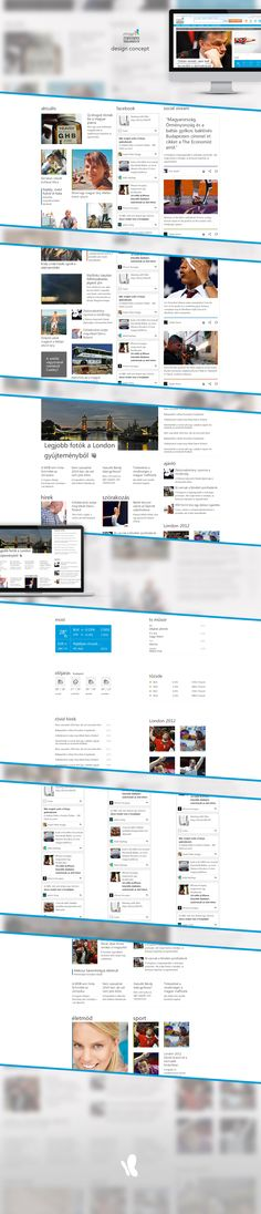 Redesign project of the hungarian edition of msn.com. Projects, Log Projects, Blue Prints