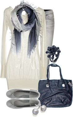 """Blue Fringe"" by lagu on Polyvore"
