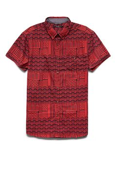 Classic Fit Tribal Print Shirt | 21 MEN #SummerForever #21Men