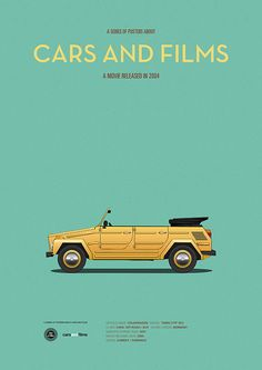 Poster of the car from 50 First Dates. Illustration Jesús Prudencio. Cars And Films