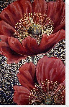 Red Poppies II by Cherie Roe Dirksen #poppy #poppyart