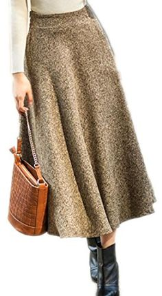 e7dd16b892 SYTX Womens Comfy Thick Chic High Rise Swing Wool Blend Slim Long Skirt 1 M  ** ** AMAZON BEST BUY ** #SummerOutfit