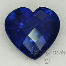 Heart shaped natural blue sapphire  Gemfix