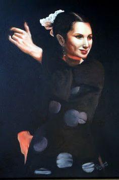 acrilico sobre tela - retrato de leticia balle