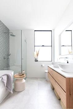 Bathroom Windows, Wood Bathroom, Grey Bathrooms, Bathroom Flooring, Small Bathroom, Bathroom Ideas, Tile Flooring, Bathroom Faucets, Grey Floor Tiles Bathroom