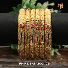 Beautiful bangle with flower design. Plain Gold Bangles, Gold Bangles Design, Gold Jewellery Design, Silver Bracelets, Designer Jewelry, Gold Jewelry, Gold Mangalsutra Designs, Jewelry Design Earrings, Bangle Set