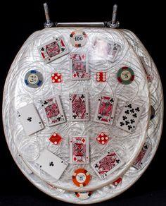 1960's Vintage Harrah's Casino Gambling Chips & Cards Toilet Seat Man Cave   eBay