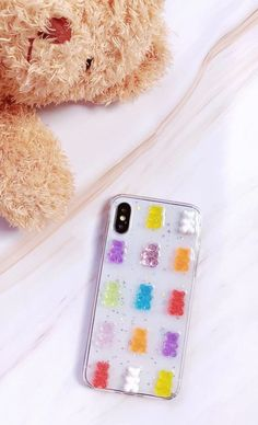 Channel happy vibes with this cute gummy bear iPhone/Samsung case. With random placement of the gummy bears, no two cases are the same. Ideal for iPhone X/XR/XS/Max, Max & Samsung series. Gummy Bear Candy, Gummy Bears, Cute Cases, Cute Phone Cases, Kpop Phone Cases, Fun Conversation Starters, Glitter Phone Cases, Happy Vibes, Free Things