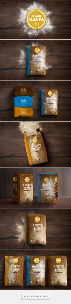 Myloi Marra flour packaging design by Antonia Skaraki - http://www.packagingoftheworld.com/2017/01/myloi-marra.html