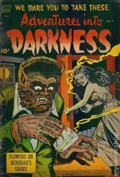 ADVENTURES INTO DARKNESS 9, GOLDEN AGE COMIC