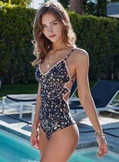7328c6349f One Piece Swimsuit Sexy Flower Print Swimwear Women Push Up Swim Suits Lace  Monokini Bandage Bathing Suits Beachwear. Item Type One PiecesSport ...