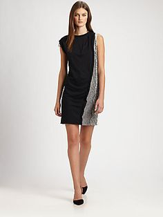 3.1 Phillip Lim Lace-Trimmed Knit Dress