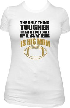 This shirt is a must-have while cheering your son on from the sidelines! Pick your team colors and sparkle with this cute football mom shirt. *Shirt runs small. *Please note colors at checkout. Sports Mom Shirts, Football Mom Shirts, Bulldogs Football, Football Gear, Football Boys, Football Mom Quotes, Football Signs, Football Season, Baseball