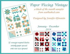 Paper Piecing Vintage – Coming in 2014! | Sewhooked