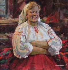 Рутковский Николай Христофорович (Россия, 1892-1968) «Женский портрет» 1956