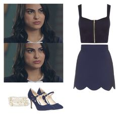 Browse and shop related looks. Tv Show Outfits, Fandom Outfits, Chic Outfits, Fashion Outfits, Veronica Lodge Outfits, Veronica Lodge Fashion, Veronica Lodge Riverdale, Riverdale Fashion, Betty And Veronica
