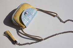 Leather cross body bag- Ewa Wajnert